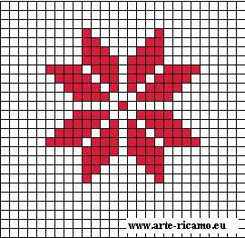 Immagini Di Natale A Punto Croce.Stella Di Natale A Punto Croce Arte Del Ricamo Europeo