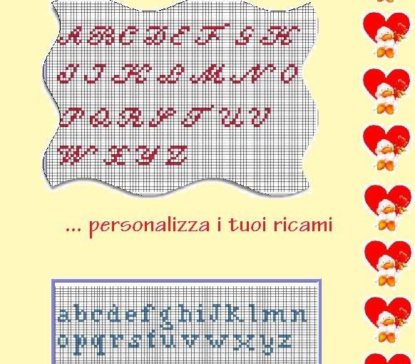Ricamare lettere alfabeto 28 images ricamare lettere for Ricamo punto croce lettere