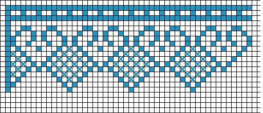 Bordura Uncinetto, cross stitch border, puntilla ganchillo