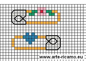 schema punto croce spille da bali