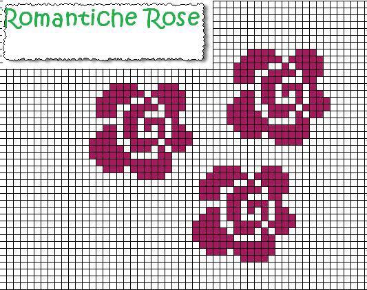 rose punto croce