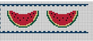 schema punto croce angurie
