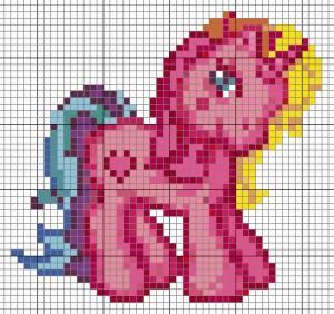 schema punto croce pony