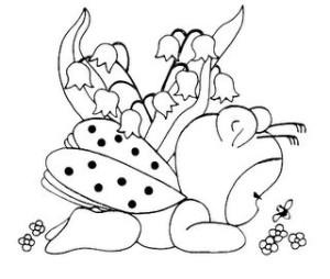 coccinella bebé disegno di ricamo