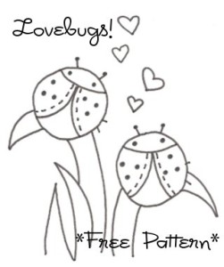 love bugs coccinelle da ricamare