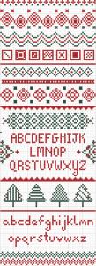 quadro natalizio punto croce