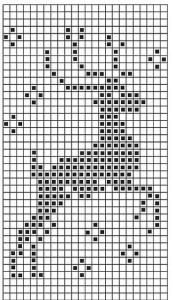 Reindeer Knitting Pattern Chart : schema natalizio punto croce renna