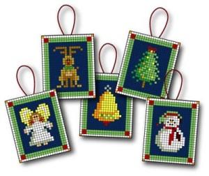 decorazioni natalizie a punto croce