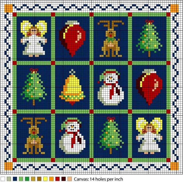 Piccolo Schemi Punto Croce Natale.Decorazioni Natalizie Arte Del Ricamo Europeo