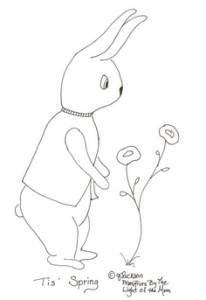 coniglio da ricamare
