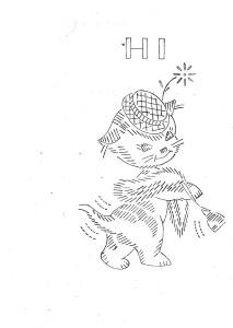 gattini da ricamare