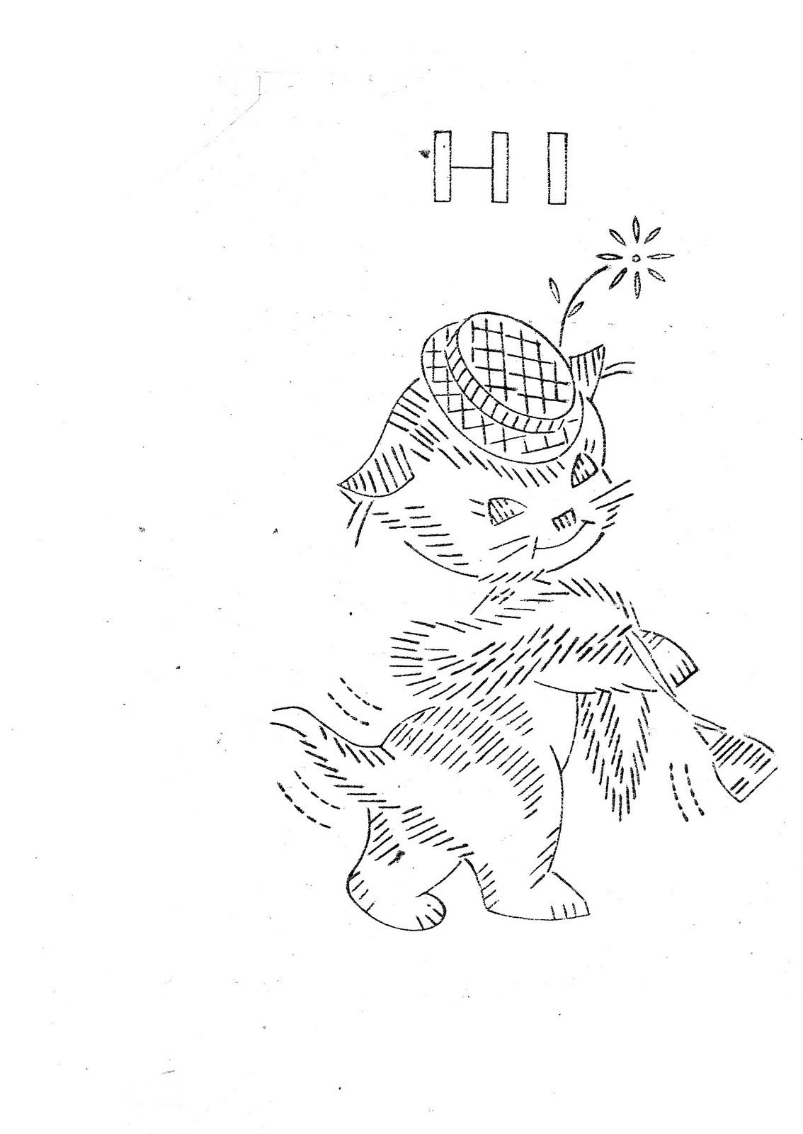 Schemi di ricamo vintage terza parte arte del ricamo - Disegni a punti ...