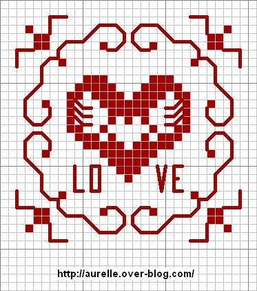 Punto Croce Schemi Di Ricamo Per San Valentino Arte Del Ricamo