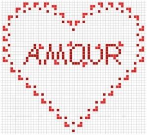 piccolo cuore san valentino punto croce