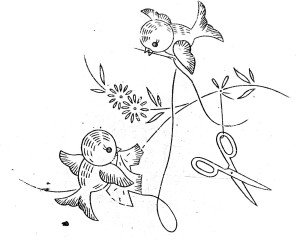 disegni di ricamo uccellini