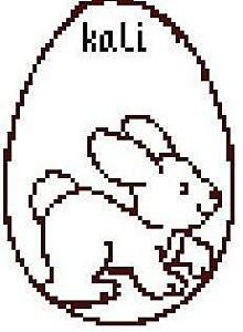 uovo con coniglio da ricamare