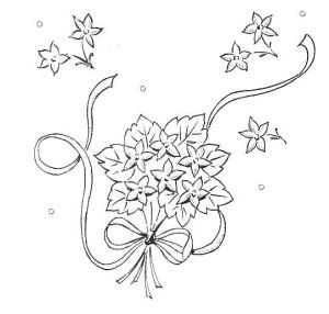 disegno di ricamo mazzolino di fiori