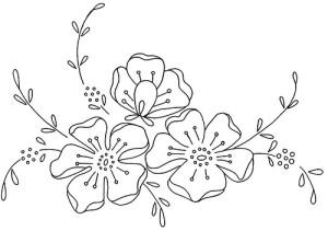 fiori disegno di ricamo