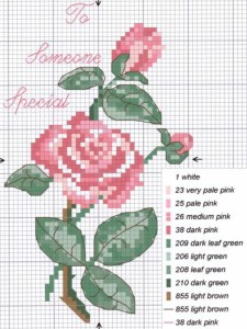 mazzo di rose punto croce