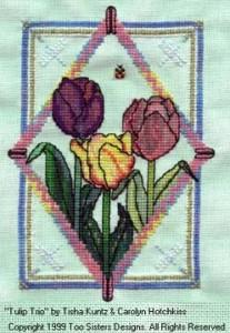 tulipani a punto croce