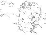disegno_ricamo_angioletto che dorme