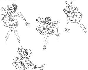 disegni per ricamo_fatine