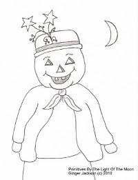 omino halloween da ricamare