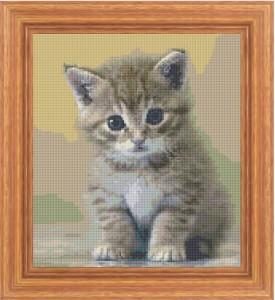 Quadretto gatto a punto croce