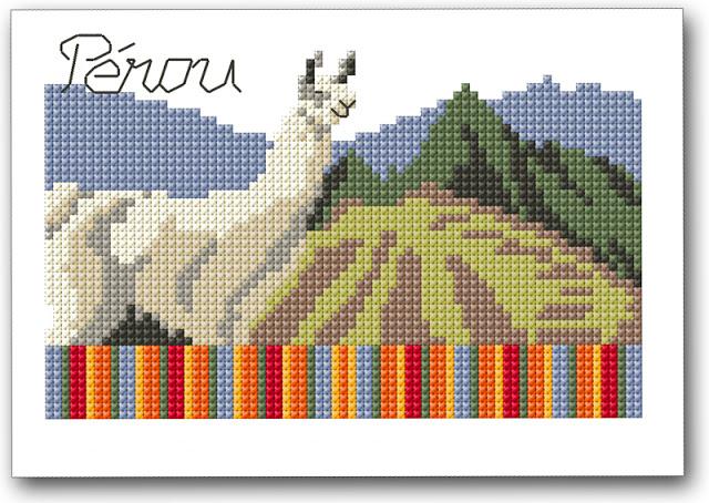 cartolina punto croce perù