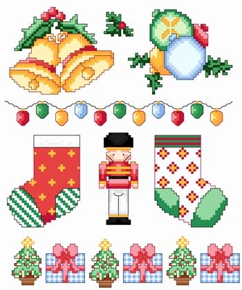 dmc schemi natalizi a punto croce