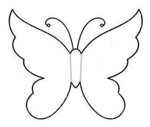 Le migliori sagome di farfalle arte del ricamo europeo for Farfalle da ricamare