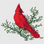 Schema a Punto Croce – Ricamare un Uccellino per l'Inverno