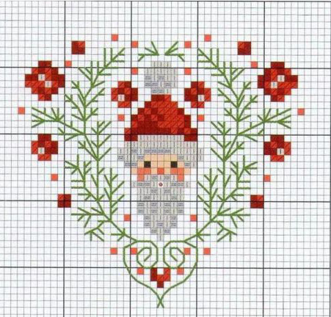 Piccolo Schemi Punto Croce Natale.Cuori Natalizi A Punto Croce Arte Del Ricamo Europeo